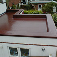 flat extension roof